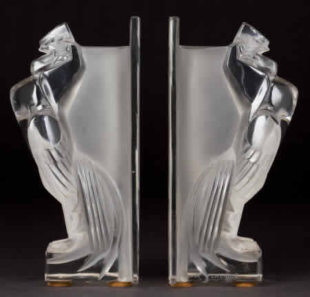 Rene Lalique Coq Houdan-B Bookend