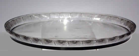 Rene Lalique Coquelicot Serving Tray