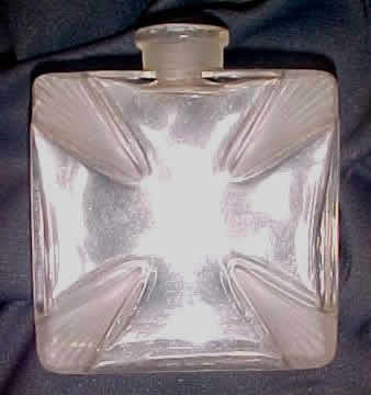 Rene Lalique Croix Saint Georges Perfume Bottle