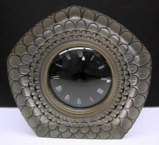 Rene Lalique Clock Dahlia