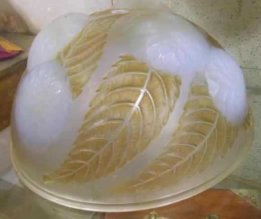 R. Lalique Dahlias Hanging Light Fixture