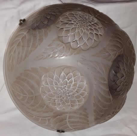 R. Lalique Dahlias Light Fixture