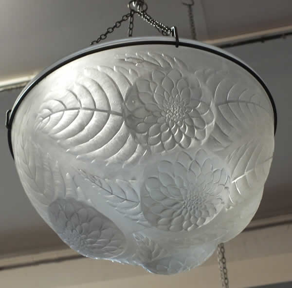 Rene Lalique Light Fixture Dahlias