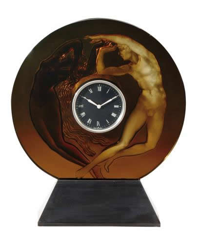 R. Lalique Day and Night Clock