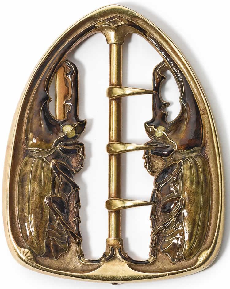 Rene Lalique Deux Coleopteres Affrontes Buckle