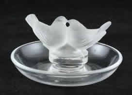 Rene Lalique Deux Colombes Ashtray