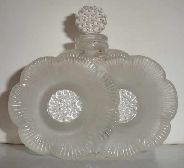 Rene Lalique Perfume Bottle Deux Fleurs