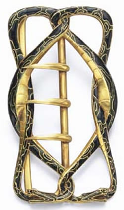 Rene Lalique Buckle Deux Serpents