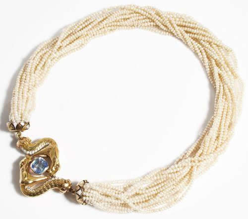 Rene Lalique Deux Serpents Necklace