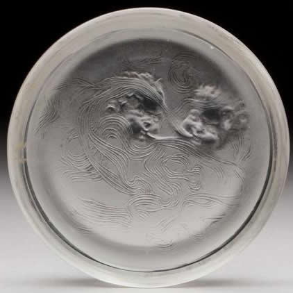R. Lalique Deux Zephyrs Ashtray
