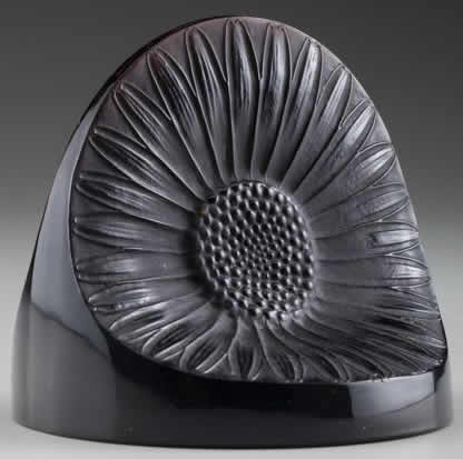 R. Lalique Double Marguerite Paperweight