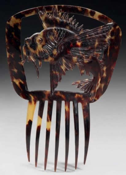 Rene Lalique Comb Dragonfish