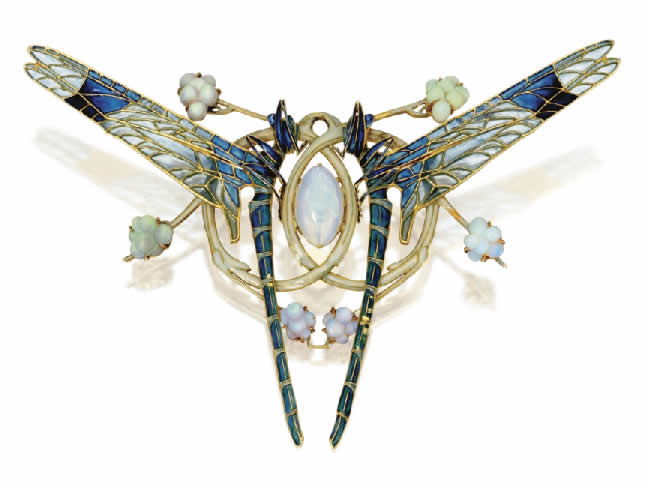 Rene Lalique Brooch Dragonflies