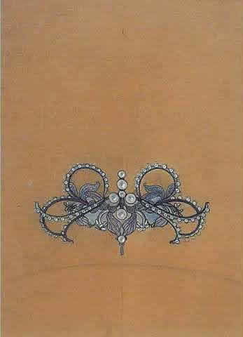 Rene Lalique Pendant - Brooch Drawing