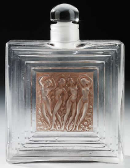 Rene Lalique Duncan Perfume Bottle