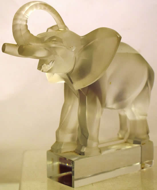 Rene Lalique Elephant Paperweight
