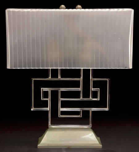 R. Lalique Entrelacs Table Lamp