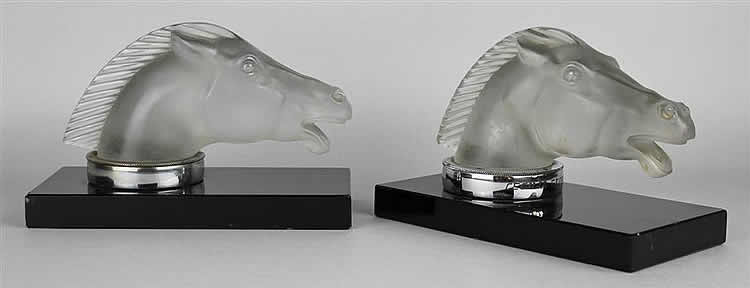 Rene Lalique Epsom Bookend