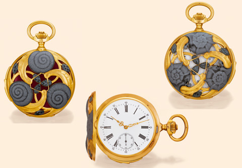 Rene Lalique Escargots Pocket Watch