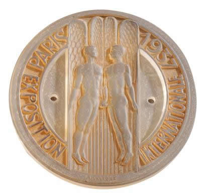 Rene Lalique Exposition Internationale Paris 1937 Medallion