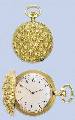 Rene Lalique Faces Pocket Watch
