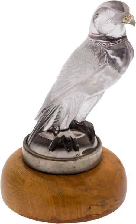 Rene Lalique Falcon Hood Ornament