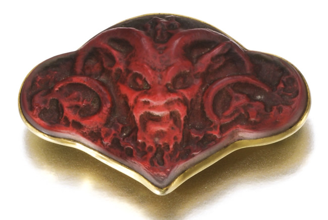 Rene Lalique Faune Brooch