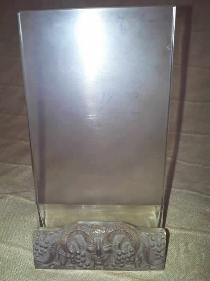 Rene Lalique Faune Menu Holder