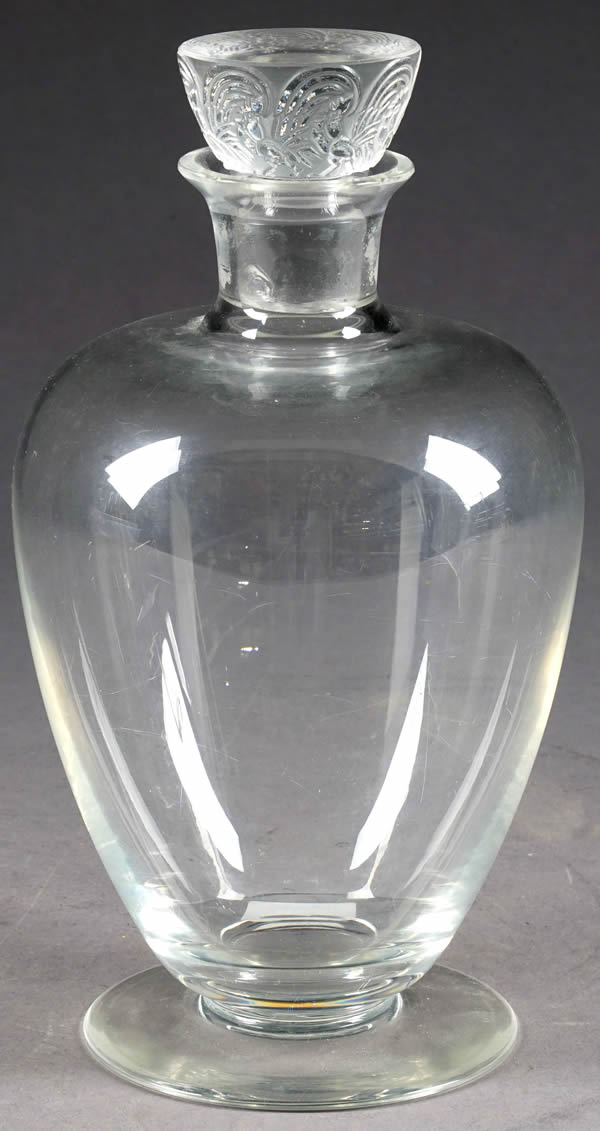 Rene Lalique Decanter Faverolles