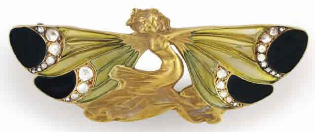 Rene Lalique Femme A Ailes Brooch