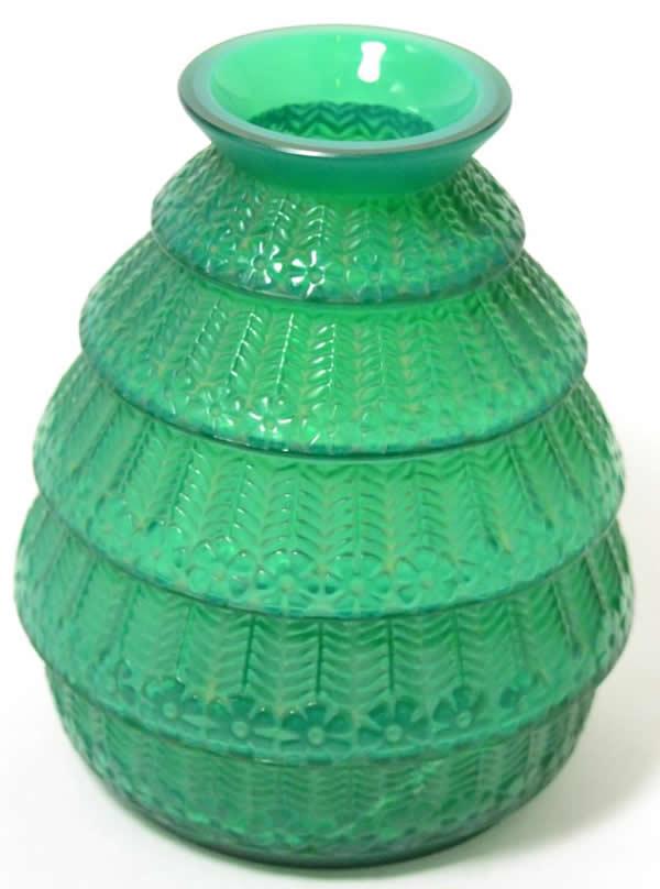 Rene Lalique Vase Ferrieres