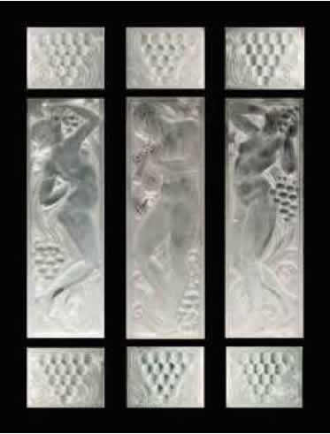 Rene Lalique Figurines Et Raisins Panel