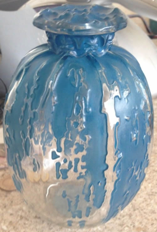 Rene Lalique Fontaines Covered Vase