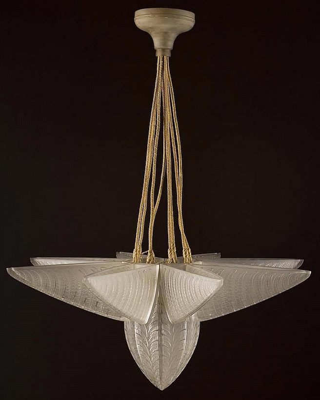 Rene Lalique Fougeres Chandelier
