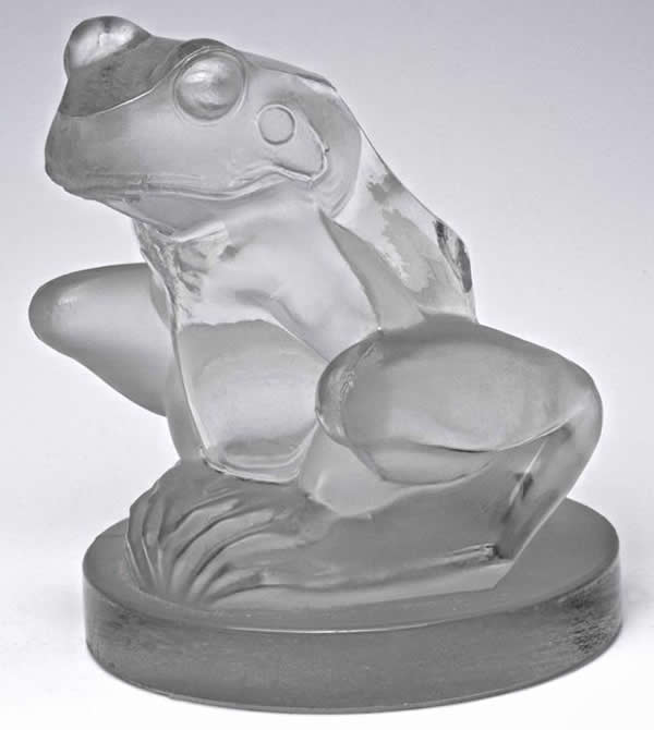 Rene Lalique Frog Hood Ornament