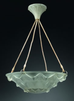 Rene Lalique Gaillon Chandelier