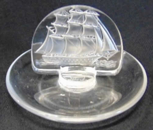 R. Lalique Galleon Ashtray