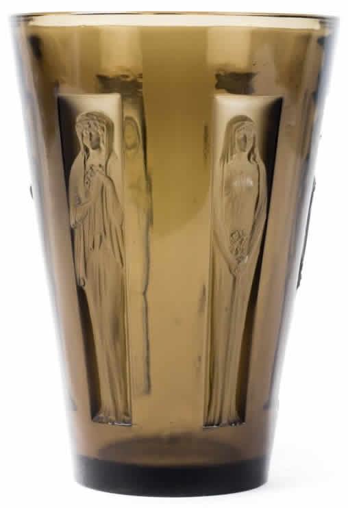 Lalique Gobelet Six Figurines Vase 12094 Rlalique