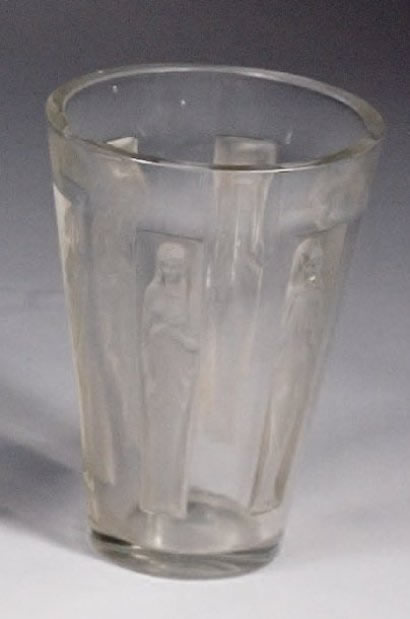 Rene Lalique Vase Goblet Six Figurines