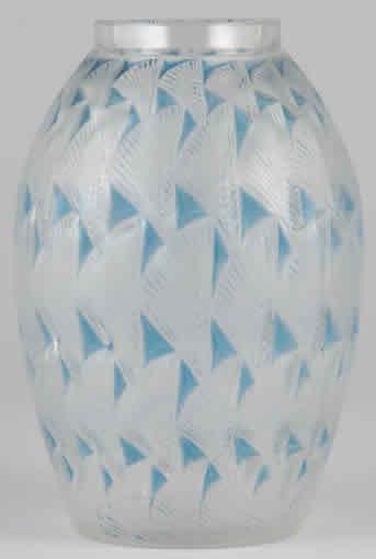 RARE Lalique Dampierre Vase~OLD~Etched Block Letters - Ad#: 225110
