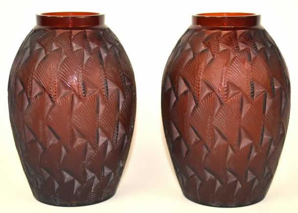 Rene Lalique Vase Grignon