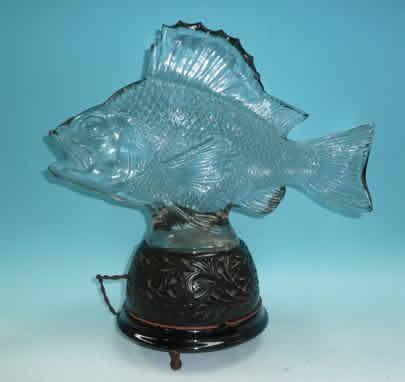 Rene Lalique Lamp Gros Poissons Algues