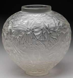 Rene Lalique Vase Gui