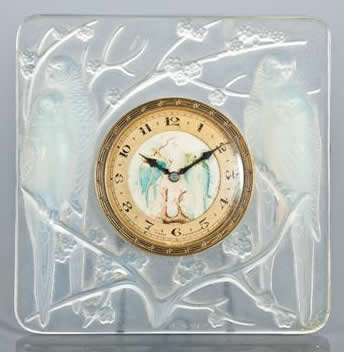 Rene Lalique Inseparables Desk Clock