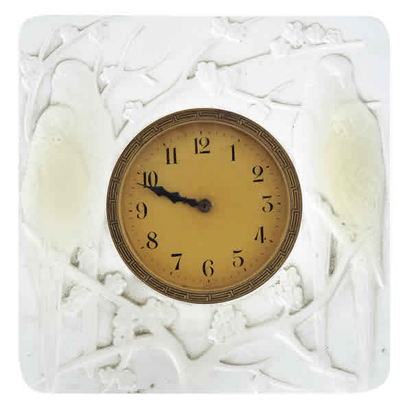 Rene Lalique Inseparables Opalescent Clock