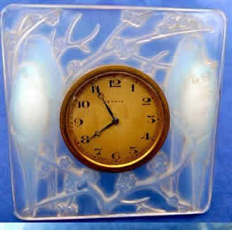 Rene Lalique Inseparables Table Clock