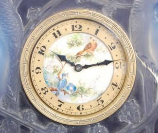 R. Lalique Inseparables Table Clock
