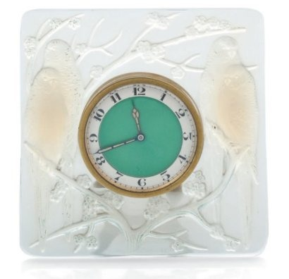 Rene Lalique Inseperables Clock