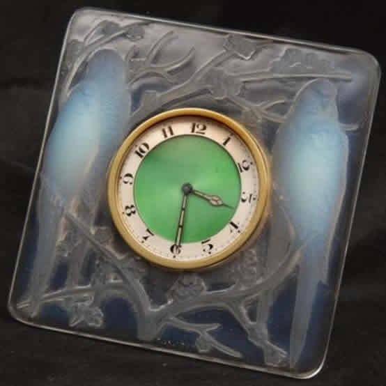 Rene Lalique Inseperables Desk Clock