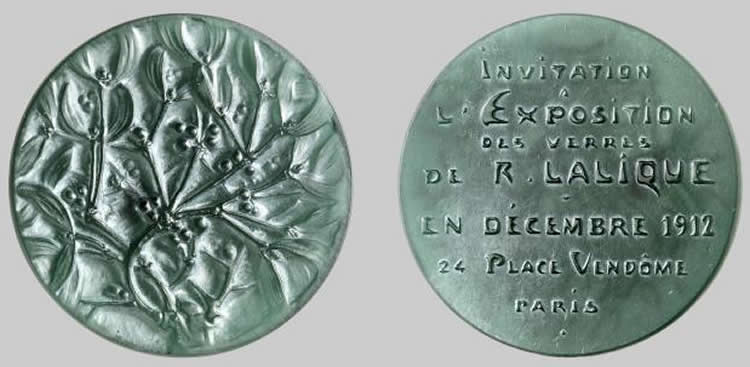 Rene Lalique Invitation Medallion